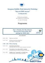 read the programme - European Mobility Week