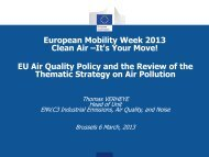 European Union Air Quality and Review - European Mobility Week