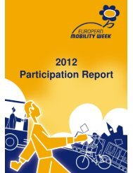 2012 Participation Report - European Mobility Week