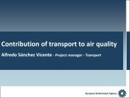 Contribution of transport to air quality - European Mobility Week