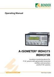 A-ISOMETER® IRDH375 IRDH375B - Bender Benelux BV