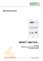 MEDICS UMC107E-.. - Bender Benelux BV