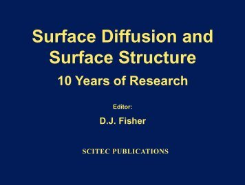 Surface Diffusion and Surface Structure - Stephen J. Pearton