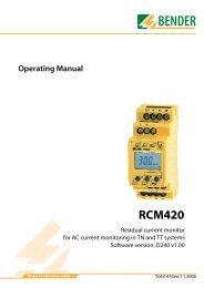 RCM420 - Bender Benelux BV