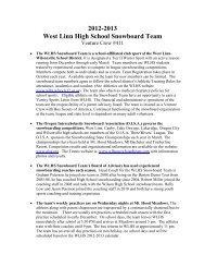 2012-2013 West Linn High School Snowboard Team