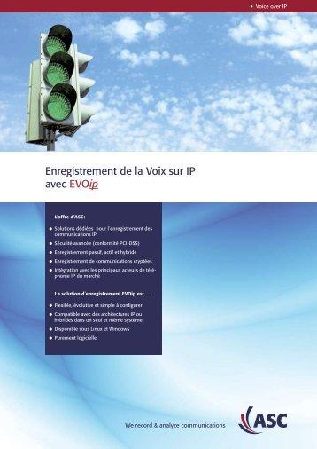 Enregistrement de la Voix sur IP avec EVOip - Aastra