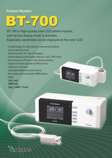 Patient Monitor BT-700 is High-quality color LCD patient ... - WTEC
