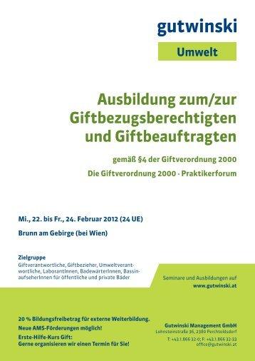 Gift Februar 2012.pdf - Kursfinder.at