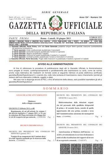 Amministrazione Autonoma dei Monopoli di Stato - Gazzetta Ufficiale