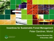 Incentives for Sustainable Forest Management - World Business ...