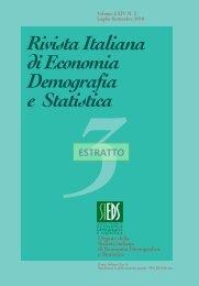 Rivista Italiana di Economia Demografia e Statistica - Sieds
