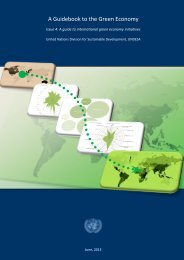 A guide to international green economy initiatives - United Nations ...