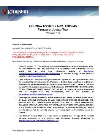 Kingston SV100S2/64GBK SSD Drivers Windows 7