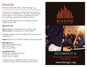 Blazing Flyer2_page one - Green Lake Conference Center