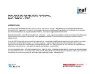 INDICADOR DE ALFABETISMO FUNCIONAL INAF / BRASIL – 2007