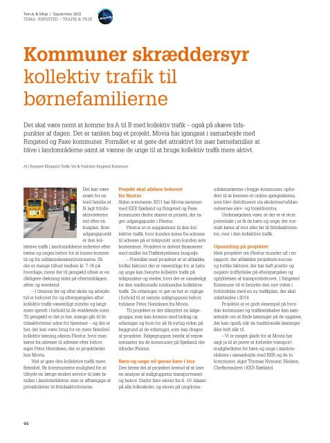 Kommuner skræddersyr kollektiv trafik til børnefamilierne - KTC