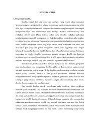 KONFLIK SOSIAL 1. Pengertian Konflik Konflik berasal dari kata ...