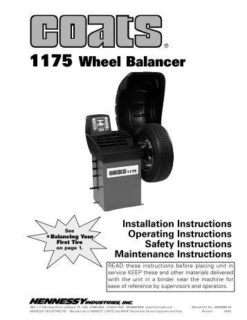 Coats 1175 Wheel Balancer - NY Tech Supply