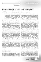 Benkó Krisztina: Gyermekjogok a nemzetközi jogban - ÚISZ