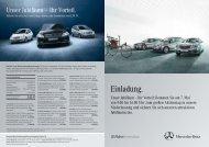 Einladung. - Mercedes-Benz Niederlassung Braunschweig