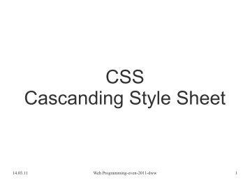 CSS Cascanding Style Sheet
