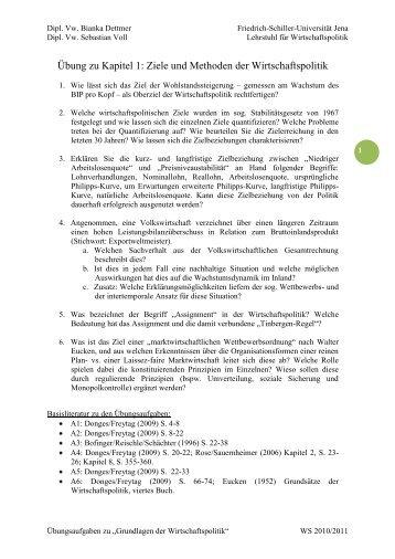 1 Ziele und Methoden der Wirtschaftspolitik - Friedrich-Schiller ...
