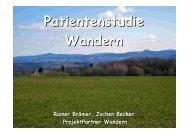Deutsches Wanderinstitut Patientenstudie Wandern '07/'08