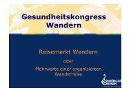 1. Einführung zu Wikinger Reisen - Gesundheitskongress Wandern