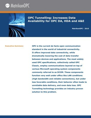 mopc_whitepaper-opc tunnelling increases.indd - Control Global