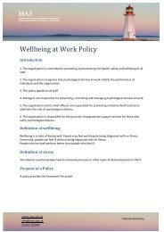 Wellbeing at Work Policy - Management Advisory Service