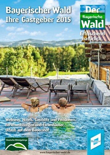 Gastgeberverzeichnis Bayerischer Wald 2015