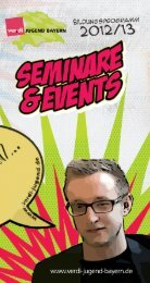 Seminare und Events 12/13 - ver.di Jugend