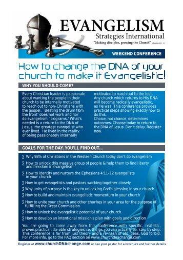 EVANGELISM - Church DNA Change