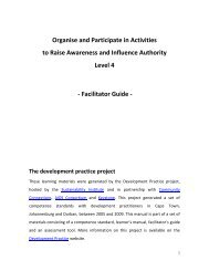 Organise and Participate in Activities to Raise Awareness and ...