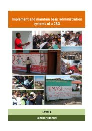 Implement and maintain basic administration systems of a CBO