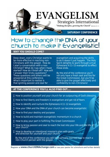 Download free brochure - Church DNA Change