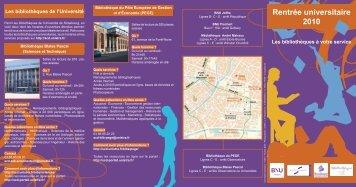 Rentrée universitaire 2010 - Bibliothèque nationale et universitaire ...