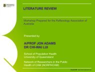 What is a literature review? - Reflexology Association of Australia