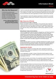 Information Sheet - Volunteering Qld