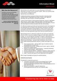 Sponsorship - Volunteering Qld