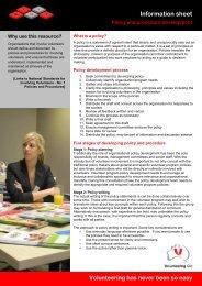 Policy and procedure development - Volunteering Qld