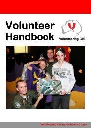 Volunteering Qld: Volunteer handbook