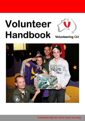 Volunteering Qld: Volunteer handbook