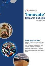 'Innovate' Research Bulletin - Volunteering Qld