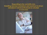 Responding to the rural skills crisis: Modelling ... - Volunteering Qld