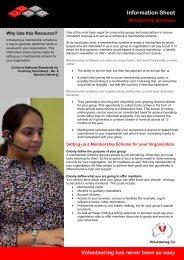 Membership Schemes - Volunteering Qld