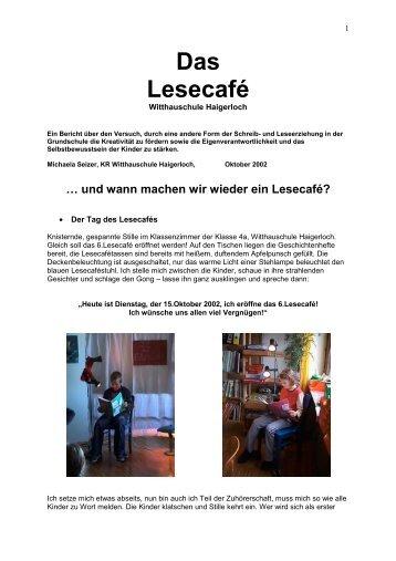 Das Lesecafé - Witthauschule  Haigerloch