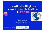 Le rôle des régions dans la mondialisation - Pactes Locaux