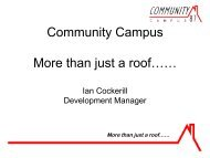 Community Campus More than just a roof…… - Pactes Locaux