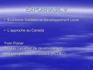 Développement économique communautaire - Pactes Locaux